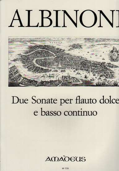 photo of Due Sonate per flauto dolce e basso continuo