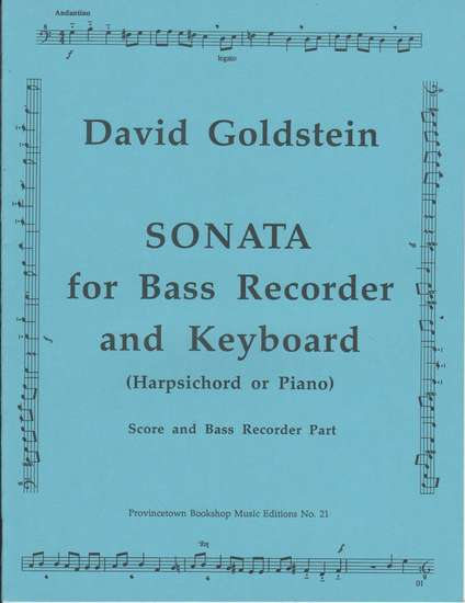 photo of Sonata for Bass Recorder and Keyboard