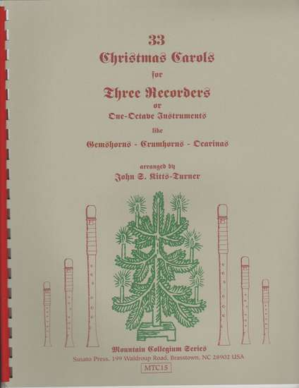 photo of 33 Christmas Carols for One Octave Instruments