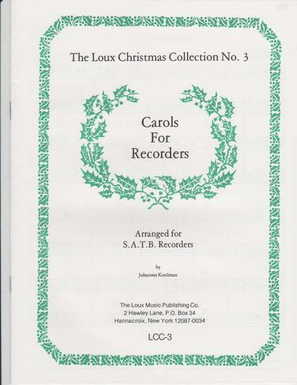 photo of Carols for Recorders, score
