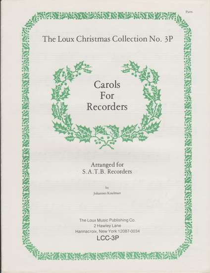 photo of Carols for Recorders, parts