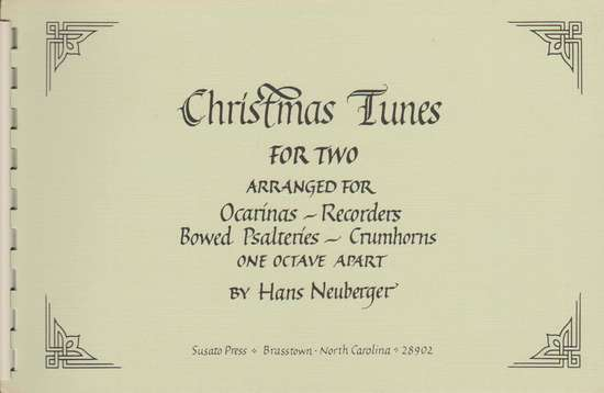 photo of Christmas Tunes for Two (Ocarinas, Recorders, Crumhorns)