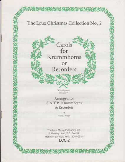 photo of Carols for Krummhorns or Recorders