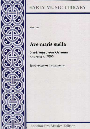 photo of Ave maris stella, 5 settings from German sources