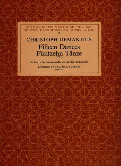 photo of Fifteen Dances, (1601) German and Polish Dances