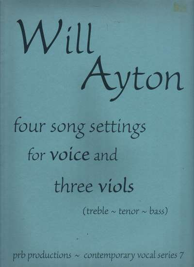 photo of Four Song Settings for Voice and Three Viols