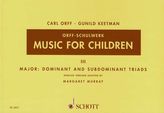 photo of Music for Children,  Vol. III Major, Murray ed.
