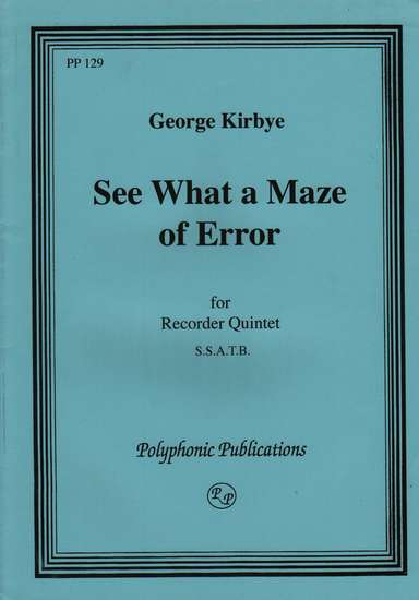 photo of See what a maze of error