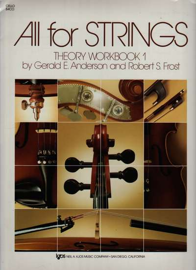 photo of All for Strings, Theory Workbook 1, Cello