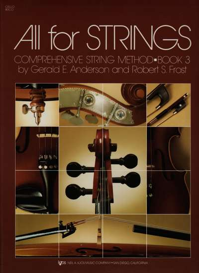 photo of All for Strings, Book 3, Cello