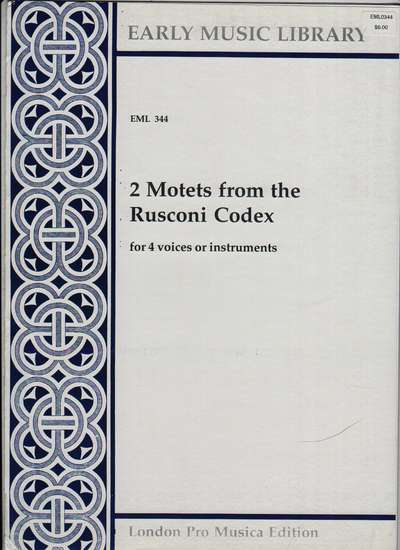photo of 2 Motets from the Rusoni Codex