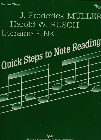 photo of Quick Steps to Note Reading, Vol. 3