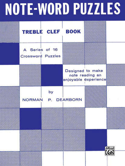 photo of Note-Word Puzzles, Treble Clef Book