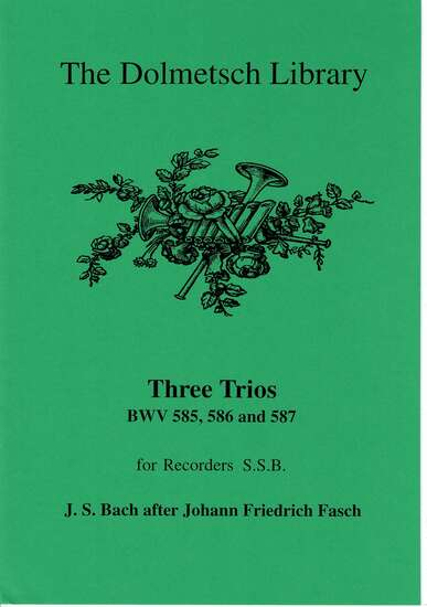 photo of Three Trios, BWV 585, 586, and 587