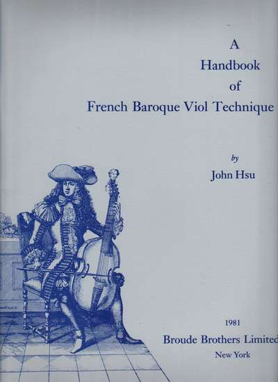 photo of A Handbook of French Baroque Viol Technique