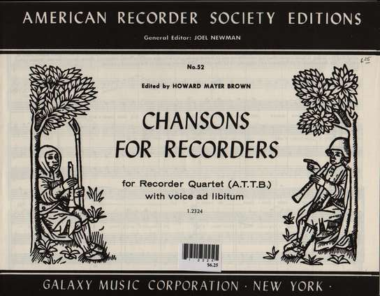 photo of Chansons for Recorders