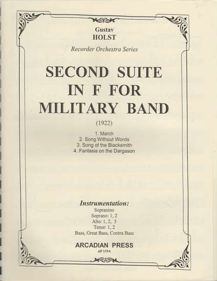 photo of Second Suite in F for Military Band