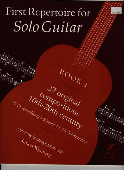 photo of First Repertoire for Solo Guitar, Vol. 1