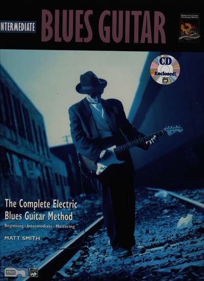 photo of Intermediate Blues Guitar, book and CD