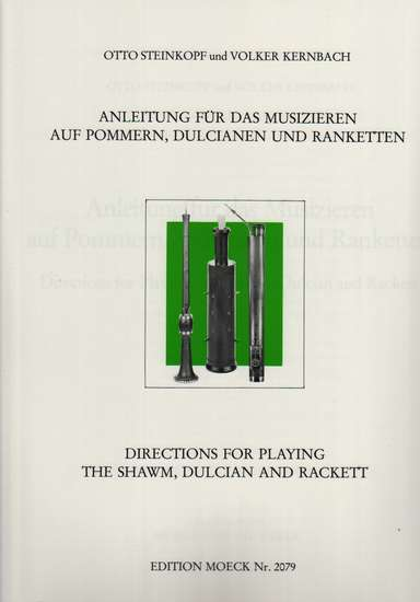 photo of Directions for Playing the Shawm, Dulcian, and Rackett