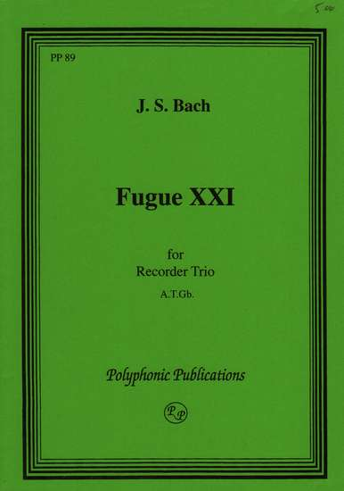 photo of Fuga XXI, from Well Tempered Clavier, Vol. I