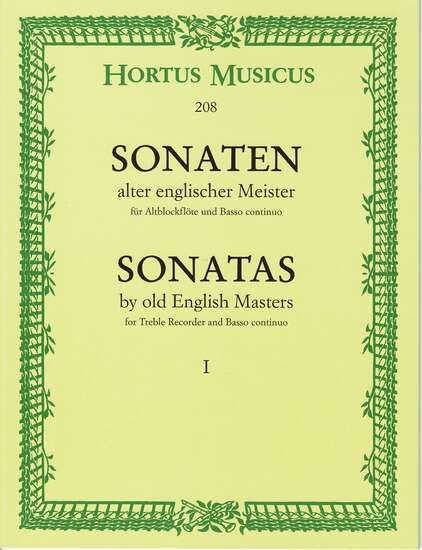 photo of Sonatas by old English Masters I
