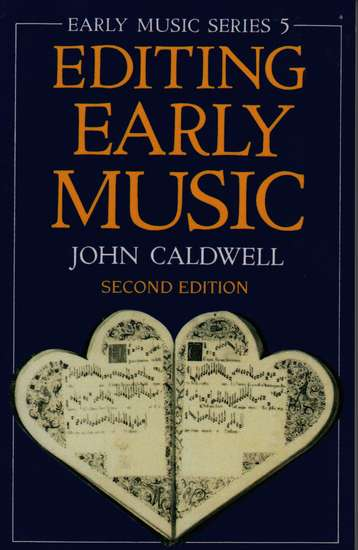photo of Editing Early Music, Second Edition