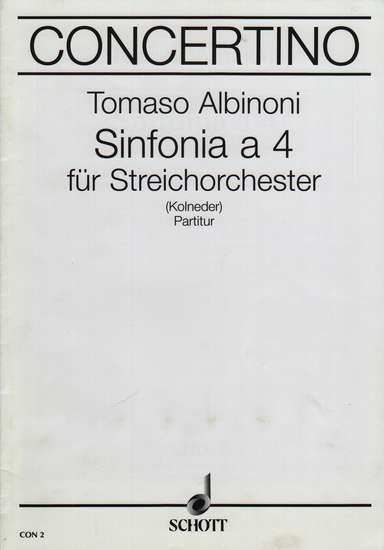 photo of Sinfonia a 4, score
