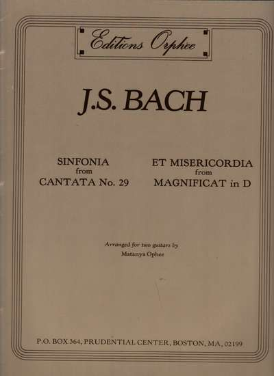 photo of Sinfonia from Cantata 29, Et Misericordia from Magnificat in D
