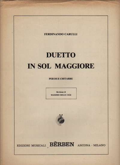 photo of Duetto in Sol Maggiore