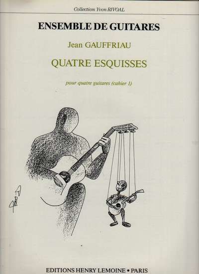 photo of Quatre Esquisses pour quatre guitares, cahier 1