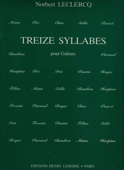 photo of Treize Syllabes