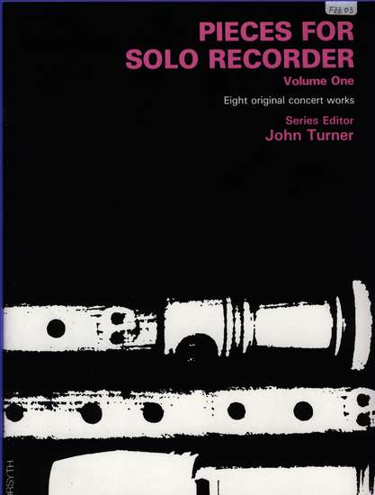 photo of Pieces for Solo Recorder, Vol. 1