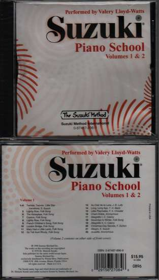photo of Suzuki Piano School, Vol. 1 & 2, Lloyd-Watts, CD