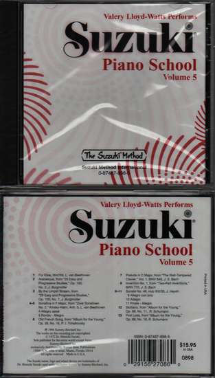 photo of Suzuki Piano School, Vol. 5, Lloyd-Watts, CD