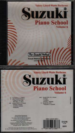photo of Suzuki Piano School, Vol. 6, Lloyd-Watts, CD
