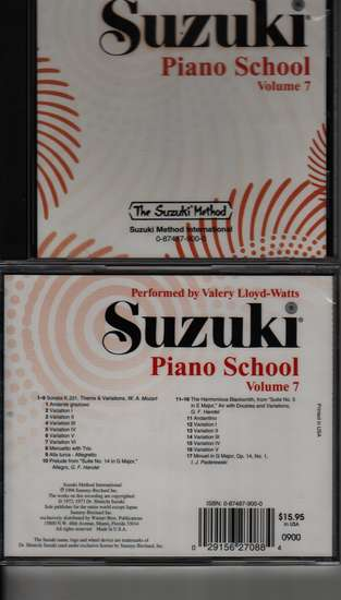photo of Suzuki Piano School, Vol. 7, Lloyd-Watts, CD