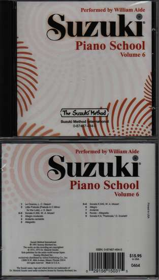 photo of Suzuki Piano School, Vol. 6, Aide, CD
