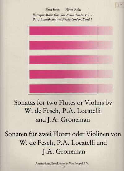 photo of Sonatas for two Flutes, Baroque Music from Netherlands, Vol. 1